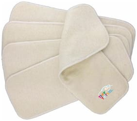 Tinytots Hemp Inserts for Cloth Diaper - 4 Layered - Pack of 5