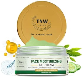 TNW   The Natural Wash Face Moisturizing Gel-Cream for Deep Nourishment   Non-Sticky & Non-Greasy Formula Suitable for All Skin Types   Gel-Cream for Fighting Early Signs of Ageing