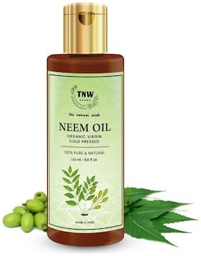 TNW-THE NATURAL WASH Pure Cold Pressed Neem Oil for Skin & Hair (100 ml)