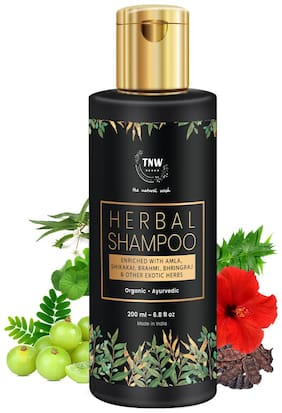 TNW-THE NATURAL WASH Herbal Shampoo A Hair Fall Control Shampoo With Exotic Nourishing Herbs (Paraben/Sulphate Free) - 200 ml