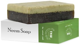 TNW-THE NATURAL WASH Handmade Purifying Neem Soap For Acne; Pimples And Rashes Facial And Body Bathing Bar (Paraben/Sulphate/ Dye/ Silicon Free) - 100 g