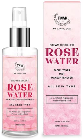 TNW-THE NATURAL WASH  Steam Distilled Rose Water/Toner/Makeup Remover (Free From Artificial Fragrance & Alcohol),200 ml