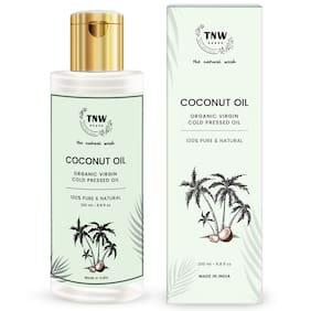 TNW-THE NATURAL WASH Cold Pressed Virgin Coconut Oil Improves Healty Skin and Hair Texture Best For Men and Women Pure & Natural Enriching & Nourishing Oil For All age Groups - 200 ml