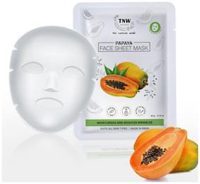 TNW - THE NATURAL WASH Papaya Face Sheet Mask for Moisturizes and Reduces Wrinkles Suits all Skin Type 20 g