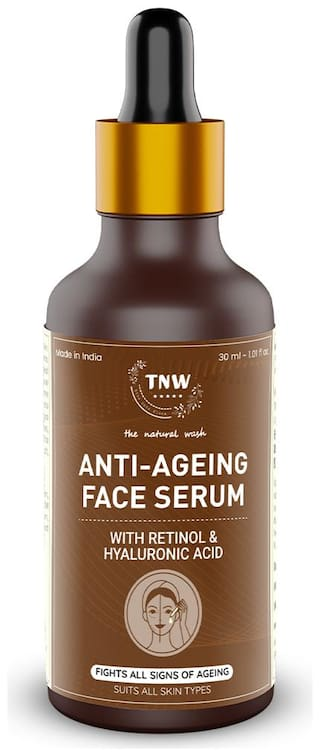 TNW The Natural Wash Hyaluronic & Retinol Acid Face Serum  For Younger Looking Youthful Skin| Anti Ageing Serum 30 ml