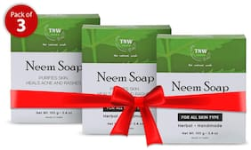TNW - The Natural Wash Handmade Purifying Neem Soap 100 g (Pack of 3)