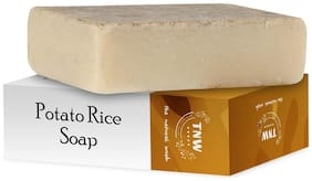 TNW-THE NATURAL WASH  Handmade Potato Rice Soap For Tanning & Pigmentation For Oily Skin (Paraben/Sulphate/Dye/Silicon Free) - 100 g