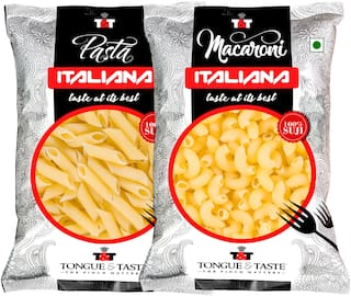 TONGUE & TASTE Combo Pack of Macaroni & Pasta Penne Pack of 2 /450 g each
