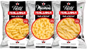 TONGUE & TASTE Macaroni:450 g/Pasta:450 g/Pasta Penne:450 g (Pack of 3)