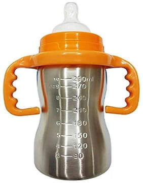 Toys Factory Stainless Steel Feeding Bottle (Pack of 1) Multi Color