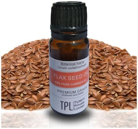 TPL Flax Seed Oil 100% Pure and Natural Carrier Oil, 10ml