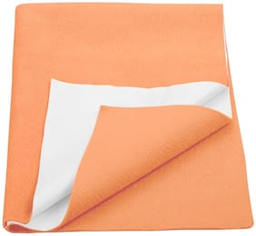 Trance Baby Drysheets|Waterproof Bed Protector sheet|Underpad|Small Size(Orange - Pack of 1 )