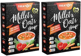 Treatvit Millet & Oats Tangy Tomato & Carrot Crunches Soup Pack of 2 (42 g x 2)
