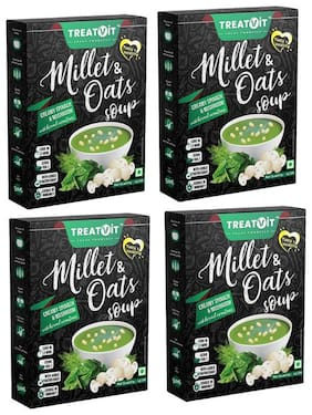 Treatvit Millet & Oats Creamy Spinach & Mushroom Soup 42 Gm  (Pack Of 4).