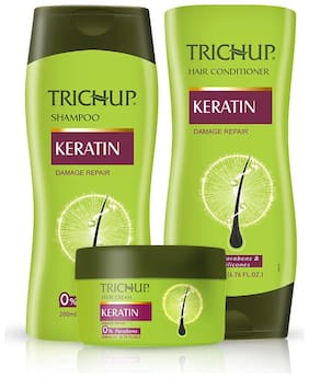 Trichup Keratin Kit (Shampoo 200 ml;Conditioner 200 ml;Hair Cream 200 ml)