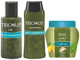 Trichup Scalp Nourishment Kit (Anti-Dandruff Oil (100 ml ) Anti-Dandruff Shampoo (200 ml ) Anti-Dandruff Cream 200 ml ) (Pack of 3 )