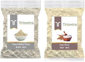 Trinetra Best Quality Bajra/Pearl Millet Atta 500g & Diet Atta/Flour 1kg