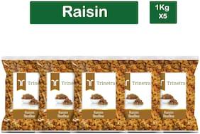Trinetra Best Quality Kishmish (Raisin)-1Kg (Pack Of 5)
