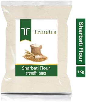Trinetra Best Quality Sharbati Atta (MP Wheat Flour)-1kg (Pack Of 1)