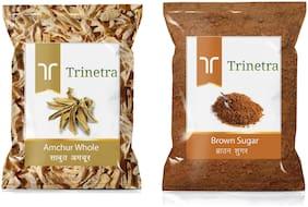 Trinetra Best Quality Brown Sugar 1kg & Amchur Sabut 100g