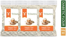 Trinetra Best Quality Diabetic Flour / Diabetic Atta 500 g ( Pack of 3 )