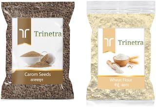 Trinetra Best Quality Ajwain 100g And Wheat Flour/ Gehu Atta 1kg