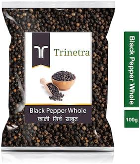Trinetra Best Quality Kali Mirch Sabut (Black Pepper)-100g (Pack Of 1)