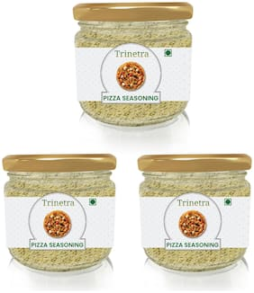 Trinetra Best Quality Pizza Seasoning (Glass Jar Pack)-100g (Pack Of 3)