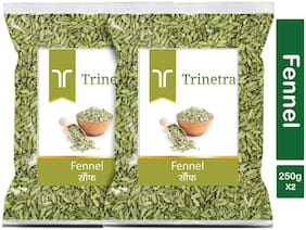 Trinetra Best Quality Saunf (Fennel Seeds)-250g (Pack Of 2)