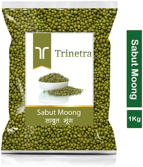 Trinetra Best Quality Moong Dal Sabut (Green Gram Beans Whole)-1kg (Pack Of 1)