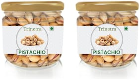 Trinetra Best Quality Pista (Pistachio) (Glass Jar Pack) 175g (Pack Of 2)