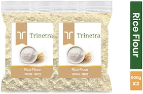Trinetra Best Quality Rice Flour / Chaval Atta 500 g ( Pack of 2 )