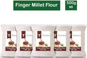 Trinetra Best Quality Ragi Atta (Finger Millet Flour)-500g (Pack Of 5)