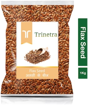 Trinetra Best Quality Alsi (Flaxseed) 1kg (Pack Of 1)