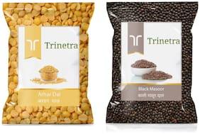 Trinetra Best Quality Black Masoor 1kg And Arhar Dal 1kg