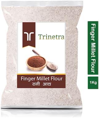 Trinetra Best Quality Ragi Atta (Finger Millet Flour)-1kg (Pack Of 1)