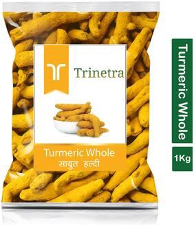 Trinetra Best Quality Haldi Sabut (Turmeric)-1Kg (Pack Of 1)