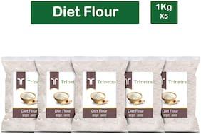 Trinetra Best Quality Diet Atta (Diet Flour)-1kg (Pack Of 5)