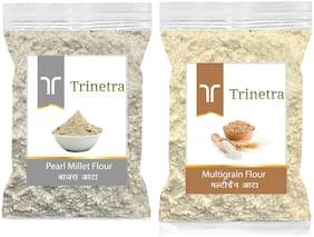 Trinetra Best Quality Bajra/Pearl Millet Atta 500g & Multigrain Atta/Flour 1kg