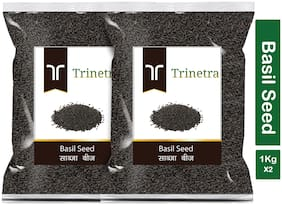 Trinetra Best Quality Sabja Seeds (Basil) 1kg (Pack Of 2)