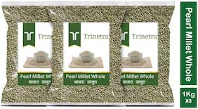 Trinetra Best Quality Bajra Sabut (Pearl Millet Whole Grain) 1 kg (Pack Of 3)