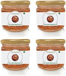 Trinetra Best Quality Achar Masala (Glass Jar Pack)-100g (Pack Of 4)