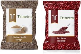 Trinetra Best Quality Ajwain 100g And Red Rajma 1kg
