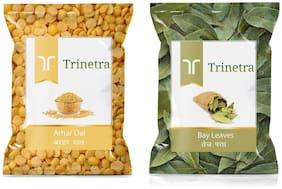 Trinetra Best Quality Bay Leaf / Tej Patta 100g And Arhar Dal 1kg