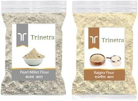 Trinetra Best Quality Rajgira Flour 500g & Bajra/Pearl Millet Atta 500g