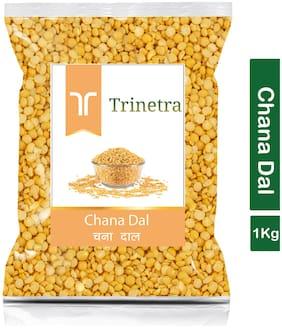 Trinetra Best Quality Chana Dal Split (Brown Chickpeas Split)-1 kg (Pack Of 1)
