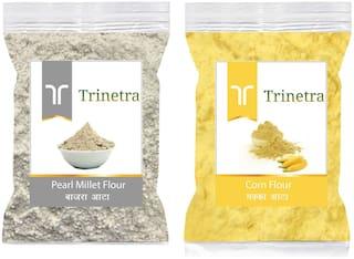 Trinetra Best Quality Bajra/Pearl Millet Atta 500g & Corn Flour/ Makka Atta 1kg
