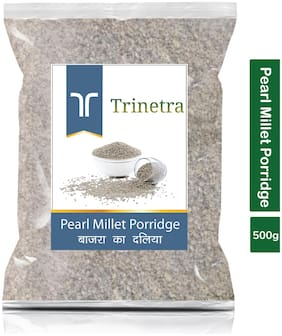 Trinetra Best Quality Bajra Daliya (Pearl Millet Porridge) 500g (Pack Of 1)