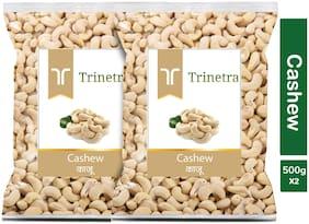 Trinetra Best Quality Kaju (Cashew) 500g (Pack Of 2)