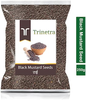 Trinetra Best Quality Rai (Black Mustard Seeds)-250g (Pack Of 1)